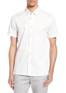 Ted Baker London Piapple Slim Fit Pineapple Print Shirt