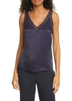Ted Baker London Piiaa Tonal Chevron V-Neck Shell