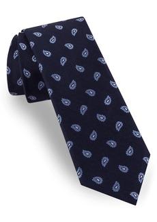 Ted Baker London Pine Paisley Silk & Linen Tie