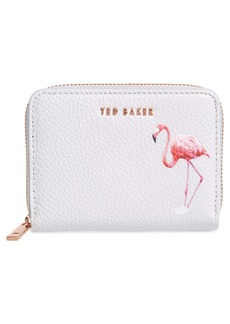 Ted Baker London Pistachio Flamingo Leather Wallet