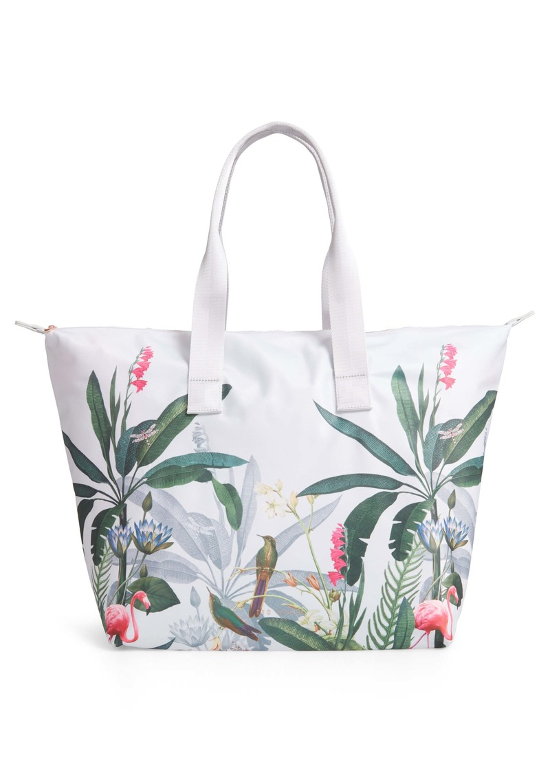 Ted Baker London Pistachio Print Foldaway Shopper Tote