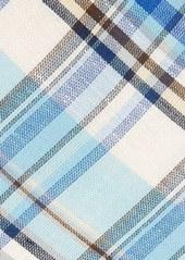 Ted Baker London Plaid Linen & Cotton Tie