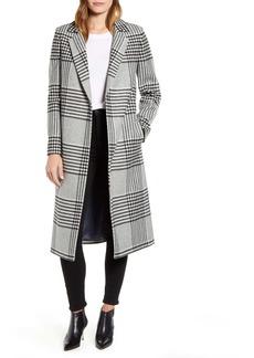 Ted Baker London Celinna Plaid Wool Blend Long Coat