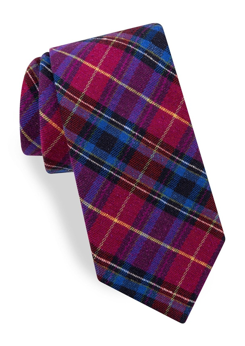 Ted Baker London Plaid Woven Silk Tie