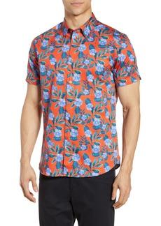 Ted Baker London Plataps Slim Fit Floral Woven Shirt