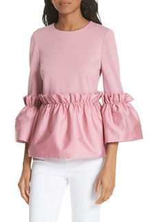 Ted Baker London Pleat Ruffle Top
