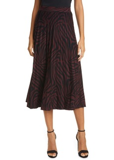 Ted Baker London Pleated Zebra Print Skirt