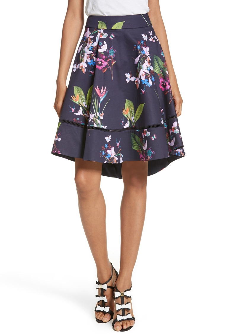Ted Baker Ted Baker London Plio Tropical Oasis Dip Hem
