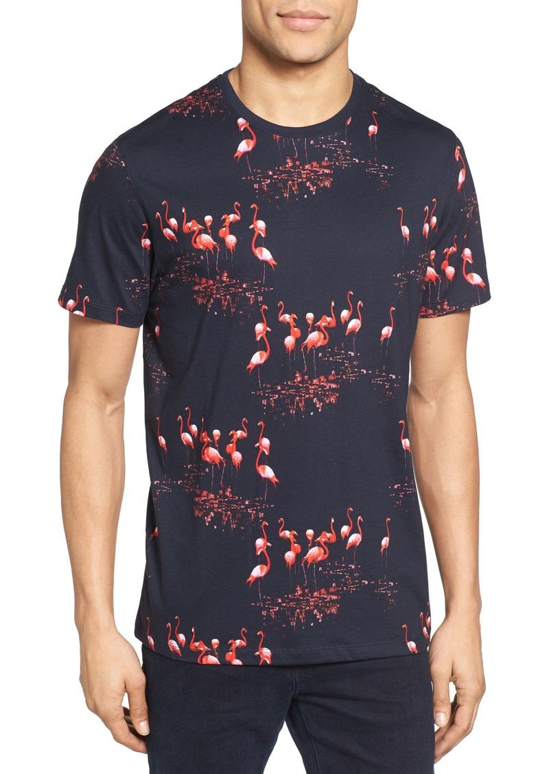 Ted Baker Ted Baker London Poket Flamingo Print T Shirt