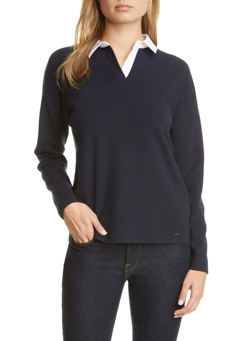 Ted Baker London Poliie Rugby Collar Sweater
