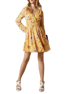 Ted Baker London Posyy Cabana Long Sleeve Minidress