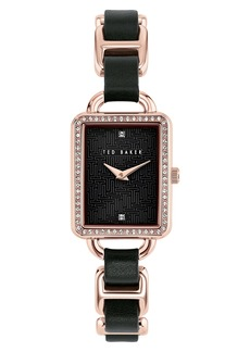 Ted Baker London Primrose Leather Link Bracelet Watch, 24mm x 30mm