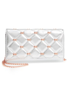 Ted Baker London Quilted Bow Leather Matinée Wallet on a Chain