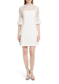 Ted Baker London Raechal Lace Sleeve A-Line Dress