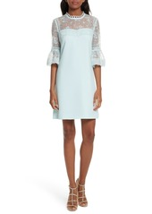 Ted Baker London Raechal Lace Sleeve A-Line Dress