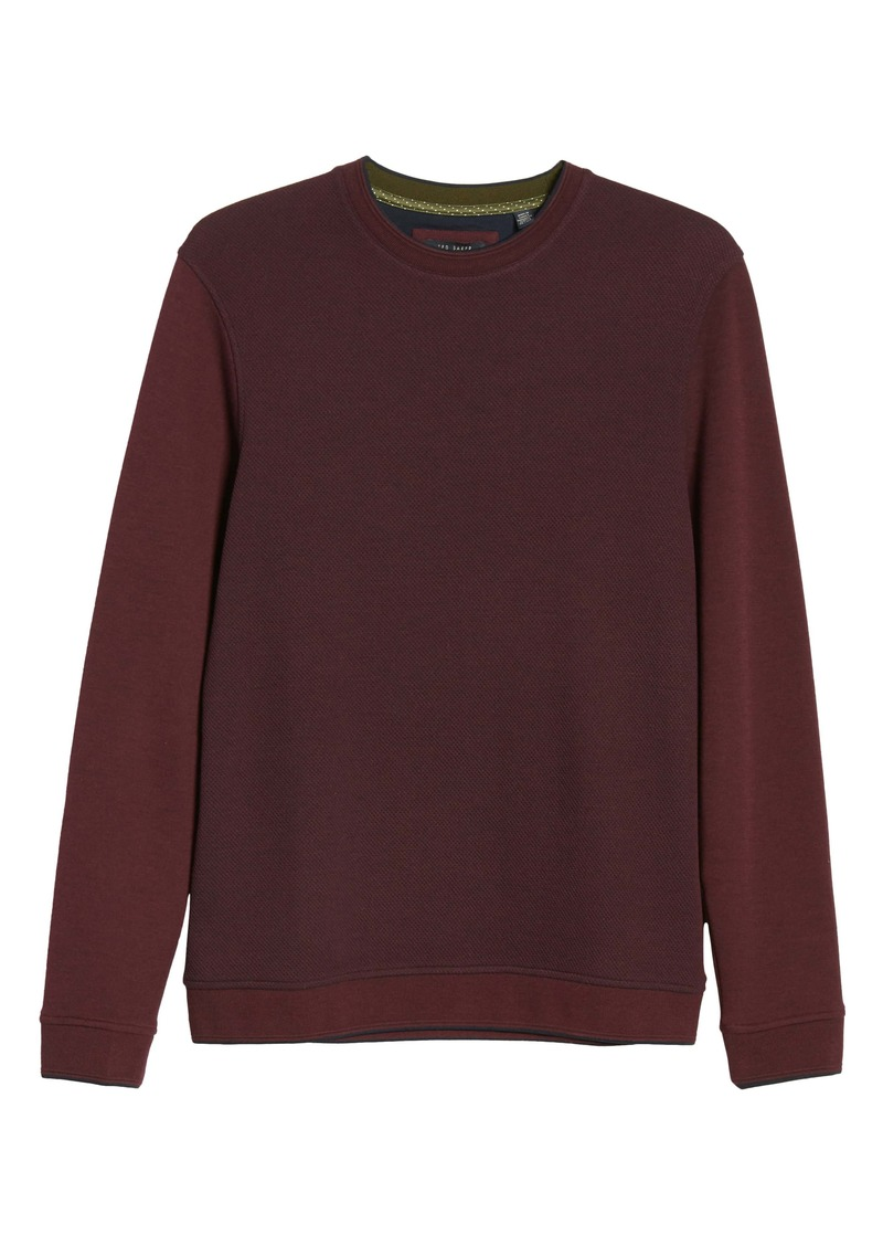 Ted Baker London Raket Textureblock Crewneck Sweatshirt