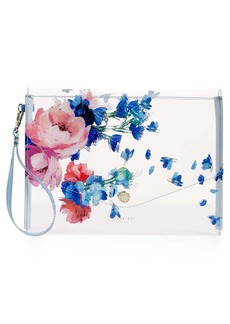 Ted Baker London Raspberry Ripple Clear Envelope Pouch