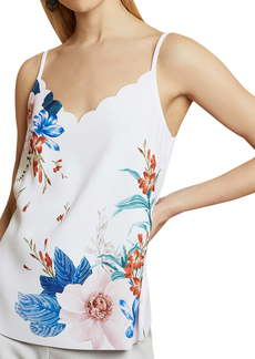 Ted Baker London Ratana Jamboree Floral Scalloped Camisole
