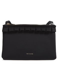 Ted Baker London Really Ruffle Faux Leather Crossbody Bag