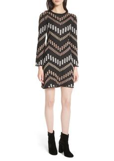 Ted Baker London Reels Bell Sleeve Knit Dress