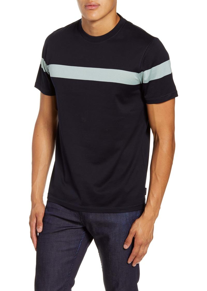Ted Baker London Relaxa Slim Fit Stripe Crewneck T-Shirt