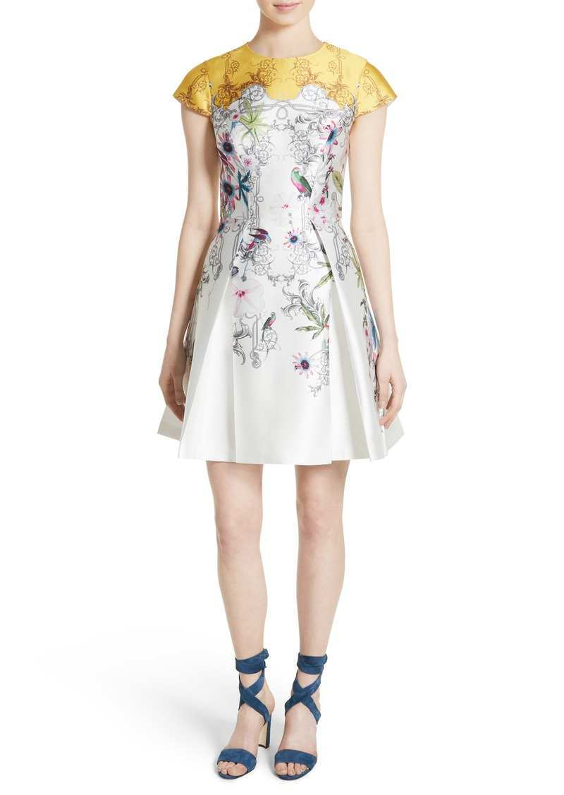 1143def937e Ted Baker Ted Baker London Reliat Passion Flower Cap Sleeve Dress ...