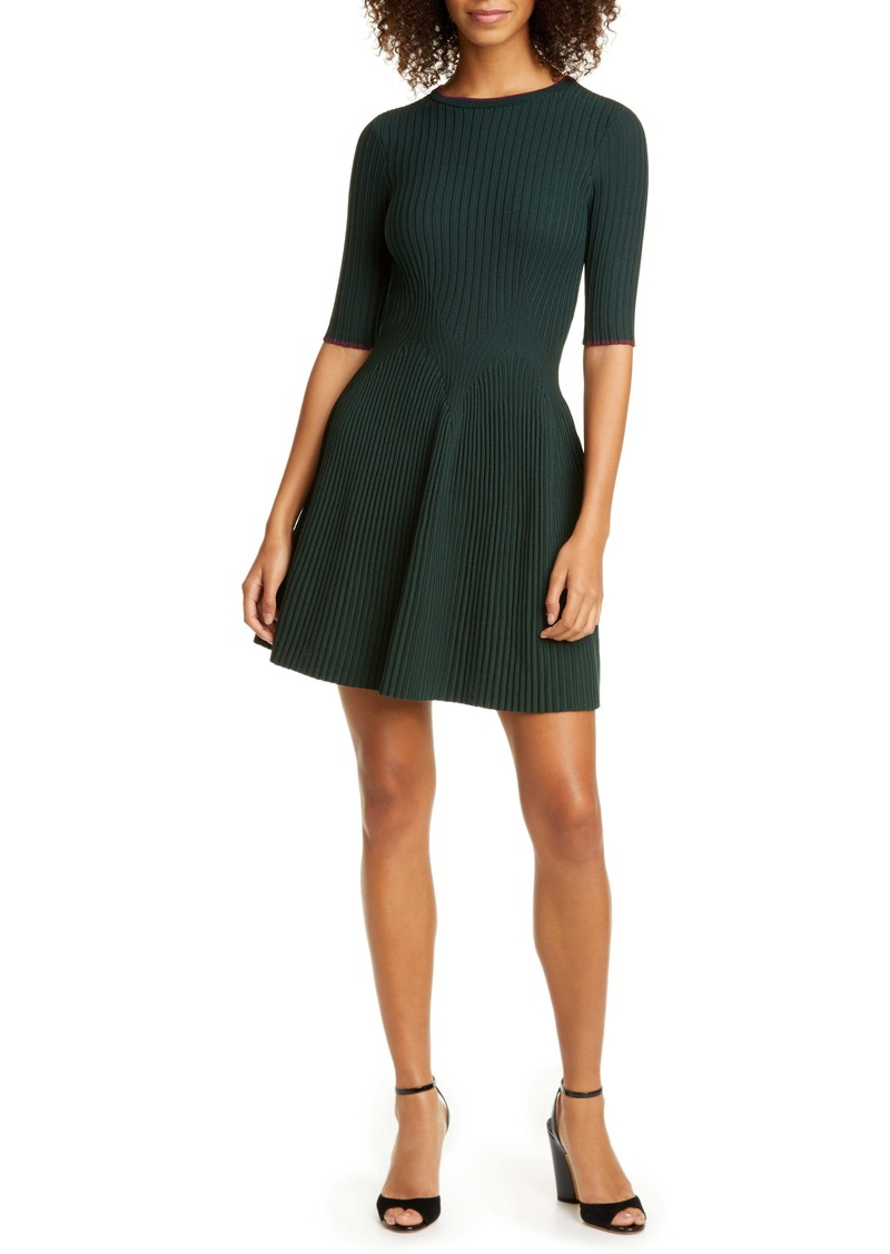 Ted Baker London Renyina Tipped Sweater Skater Dress