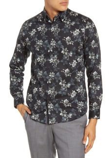 Ted Baker London Revoir Slim Fit Floral Print Button-Up Shirt
