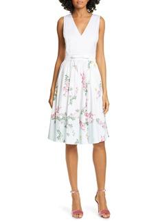 Ted Baker London Reyyne Bow Detail Sleeveless Stretch Cotton Dress