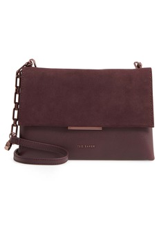Ted Baker London Rhodaa Leather & Suede Shoulder Bag