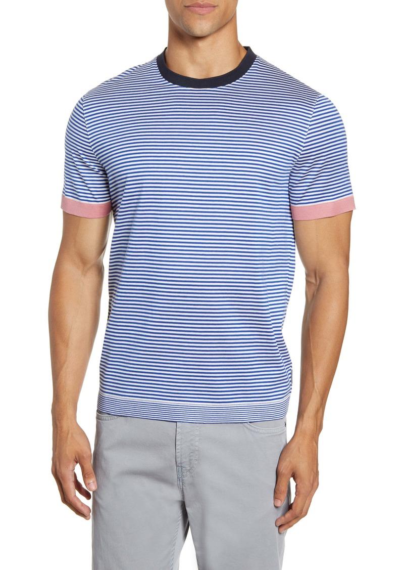 Ted Baker London Ribstart Slim Fit Stripe T-Shirt