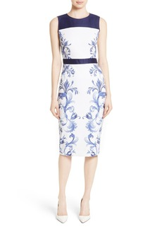Ted Baker London Ritah Colorblock Midi Sheath Dress