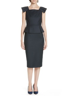 Ted Baker London Ted Working Title Rivaa Peplum Sheath Dress