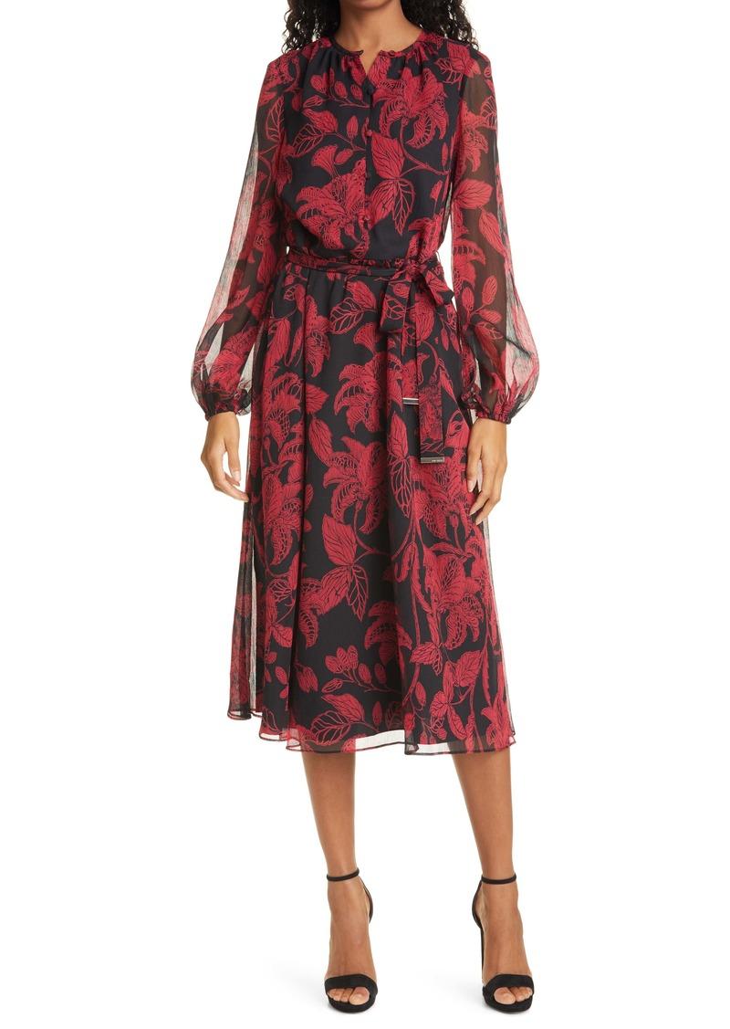Ted Baker London Rococo Long Sleeve Midi Dress