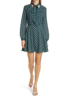 Ted Baker London Rocoo Long Sleeve Floral Print Minidress
