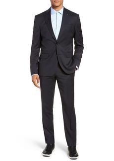 Ted Baker London Roger Extra Trim Fit Stripe Wool Suit