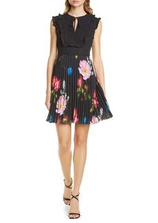 Ted Baker London Romanna Floral Pleat Dress