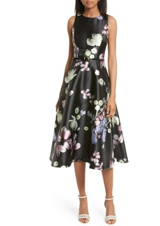 Ted Baker London Rosa Kinsington Floral Belted A-Line Dress