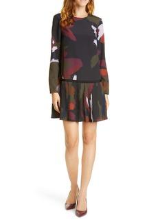 Ted Baker London Rosarn Sapphire Long Sleeve Dress