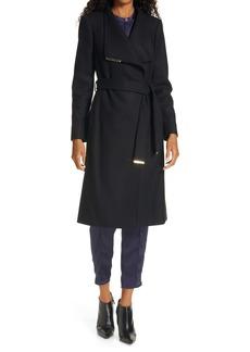 Ted Baker London Rose Wool & Cashmere Blend Wrap Coat