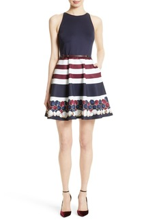 Ted Baker London Rowing Stripe Skater Dress