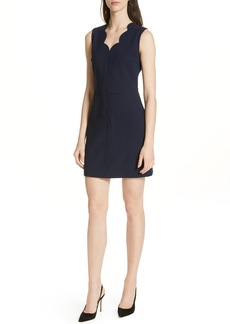 Ted Baker London Rubeyed Scallop Edge A-Line Dress