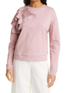 Ted Baker London Ruffle Shoulder Sweatshirt