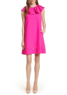 Ted Baker London Ruffled Neck Shift Dress