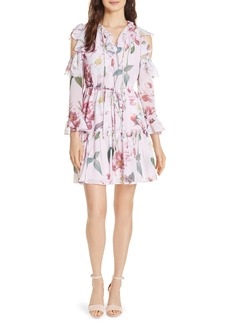 Ted Baker London Saaraah Iguazu Cold Shoulder Dress