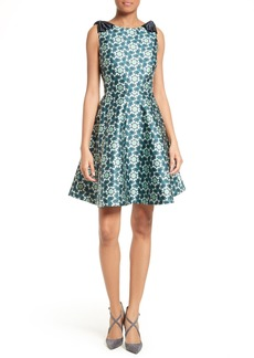 Ted Baker London Sainte Kaleidoscope Faille Fit & Flare Dress