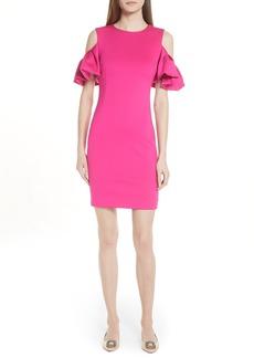 Ted Baker London Salnie Cold Shoulder Sheath Dress