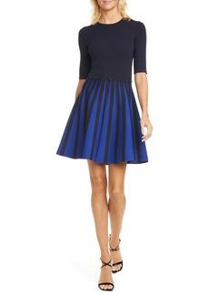 Ted Baker London Salyee Short Sleeve Knit Skater Dress