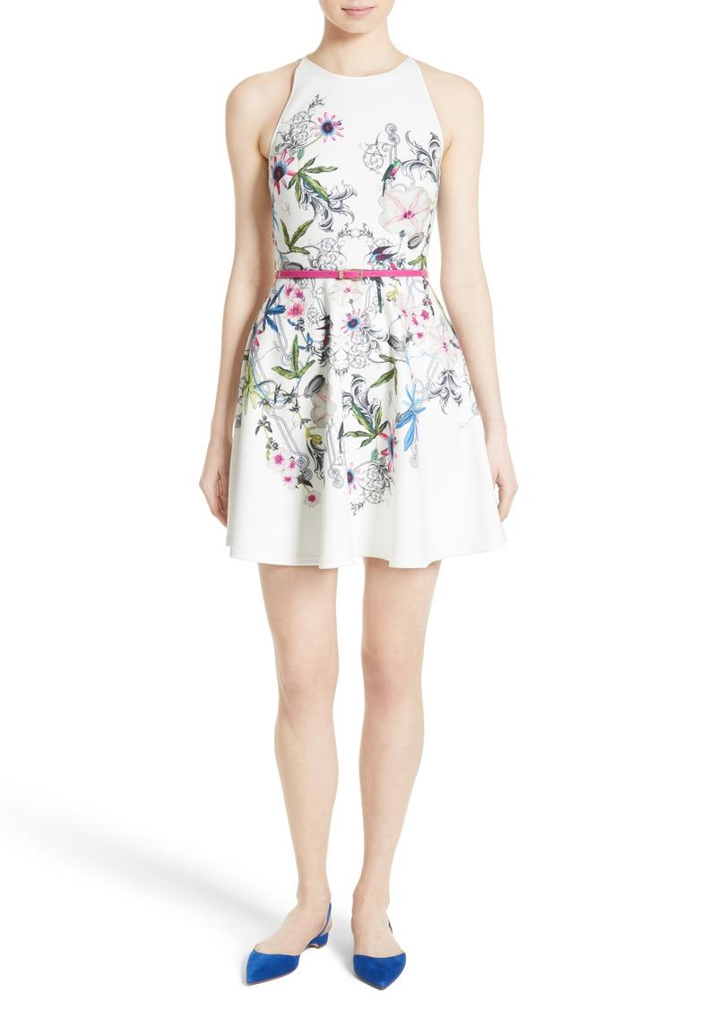 00b4fb275 Ted Baker Ted Baker London Samm Floral Fit   Flare Dress Now  111.60