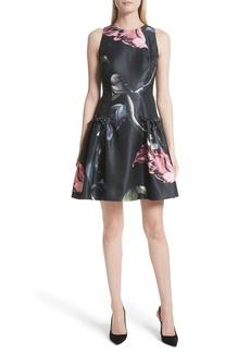 Ted Baker London Sarahe Floral Fit & Flare Dress